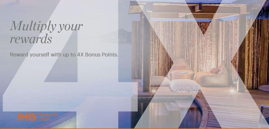 IHG 1000 Bonus Points and 4x Point Earnings
