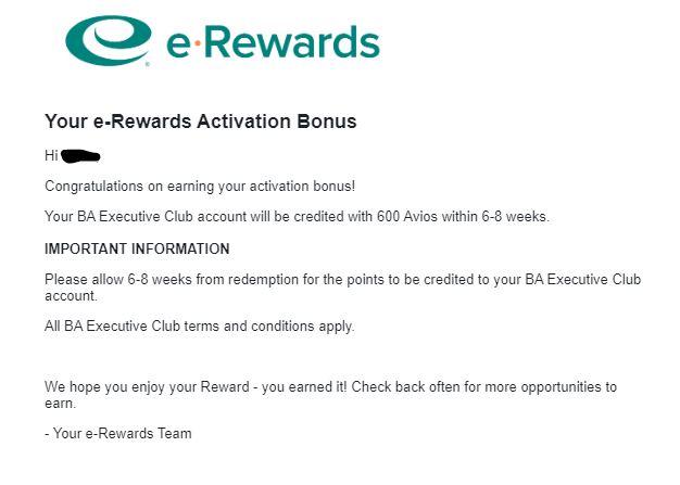 600 Free Avios Points