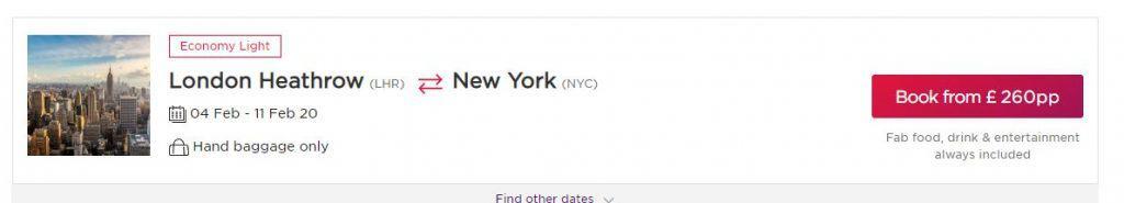 New York Sale on Virgin