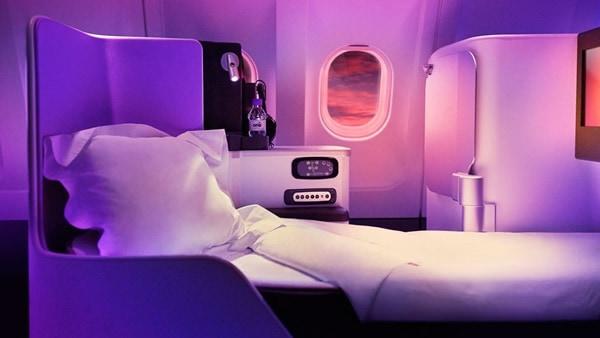 Virgin Upper Class Lay Flat Bed