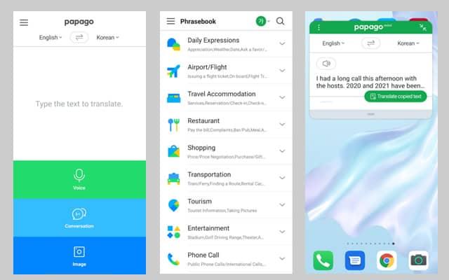 Papago-translation-app-actual-tests-and-screenshots