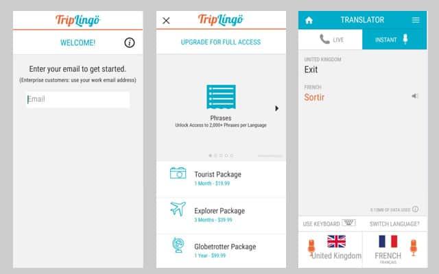 TripLingo-translation-app-actual-tests-and-screenshots