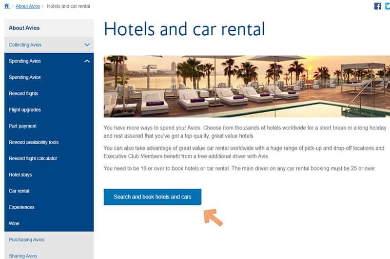 Book BA Avios Hotels
