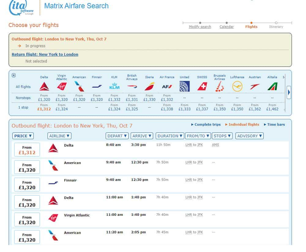 Lowest Cost Flight Search