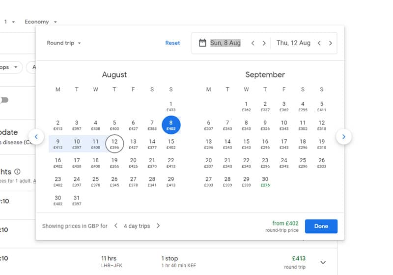 See prices before you search on Google Flights