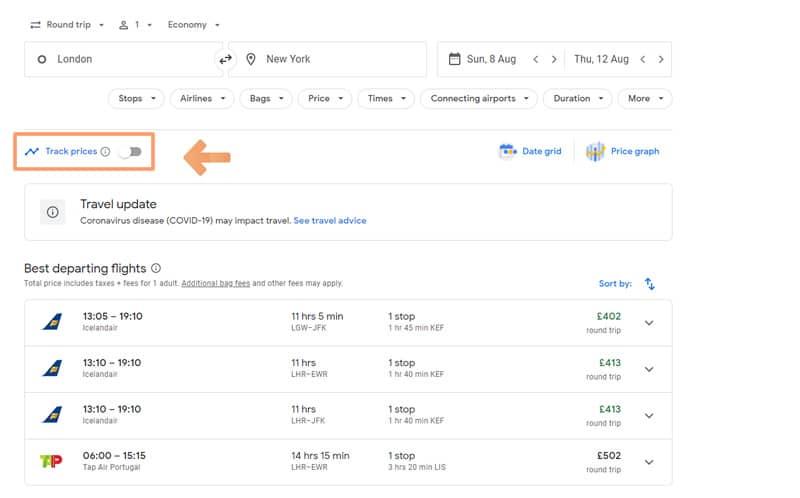 Track Flight Prices