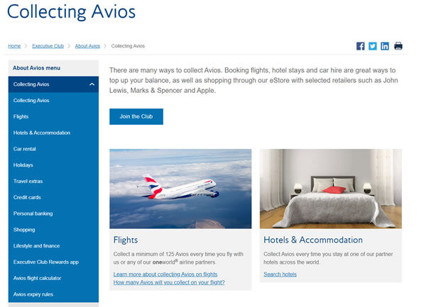 Avios Hotels & Accommodation