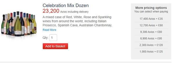 Celebration Mix Dozen available as part pay with Avios